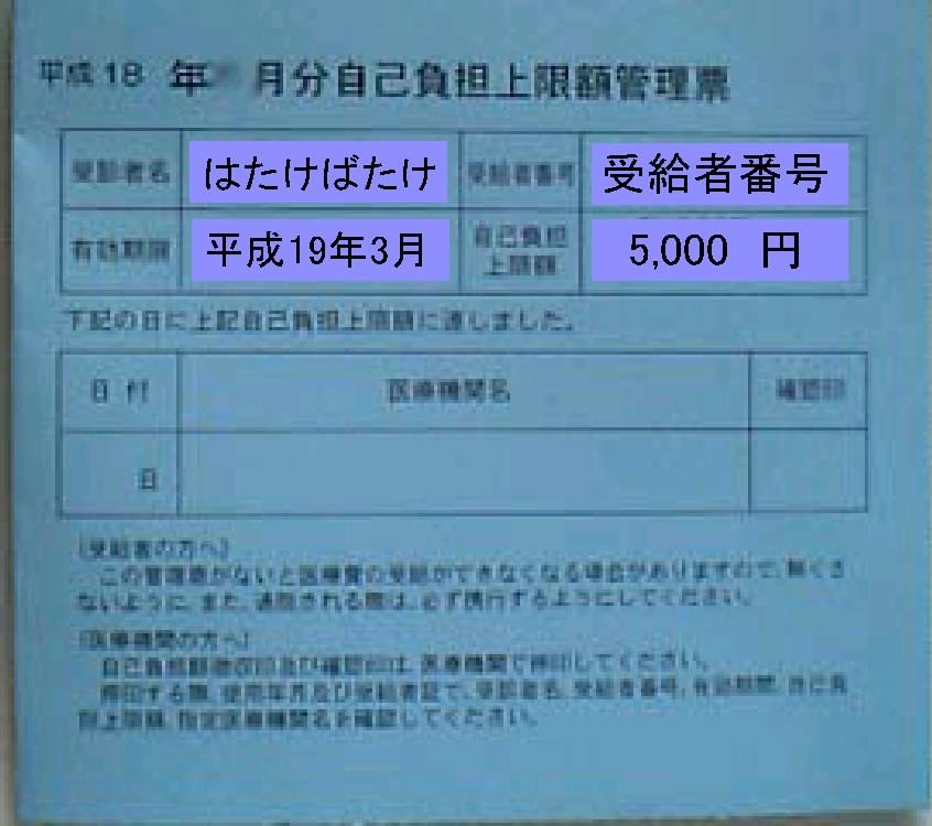 本則支給の管理票